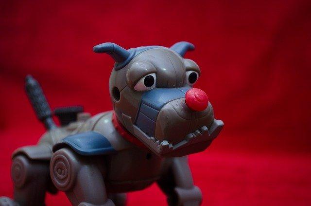 robot pes - hračka