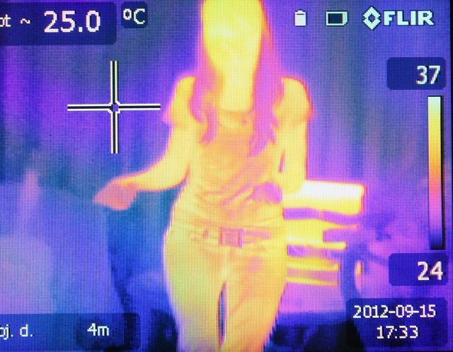 pohled termokamerou