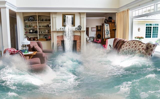 záplavy v obýváku