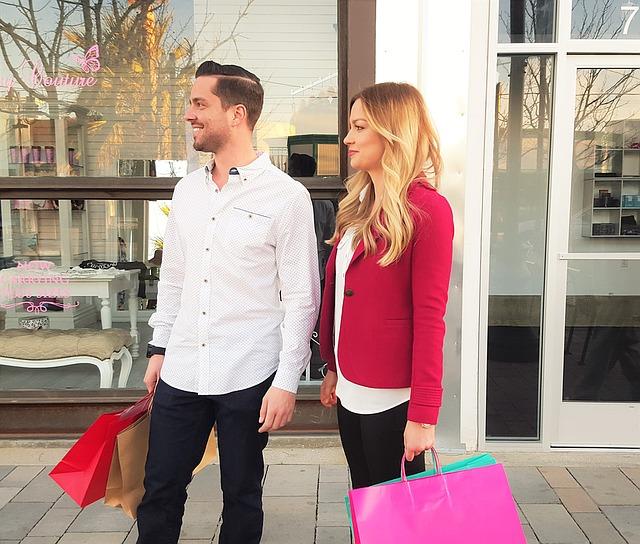 nakupování v páru
