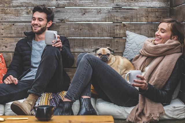 přátelé se psem