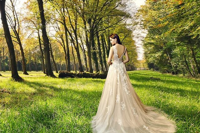 nevěsta v přírodě